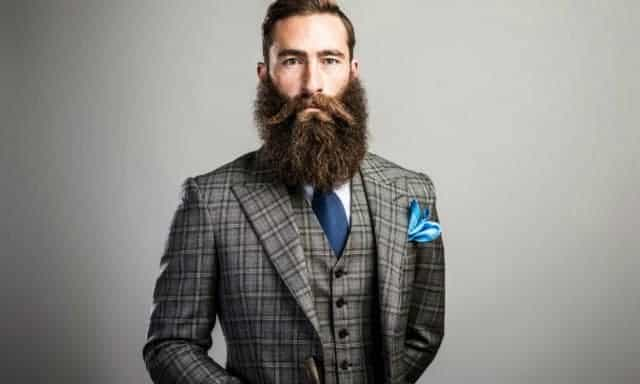 beards and suit