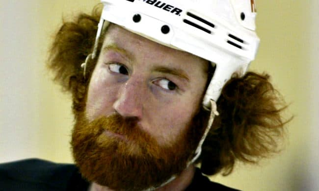 mike commodore hockey nhl beard
