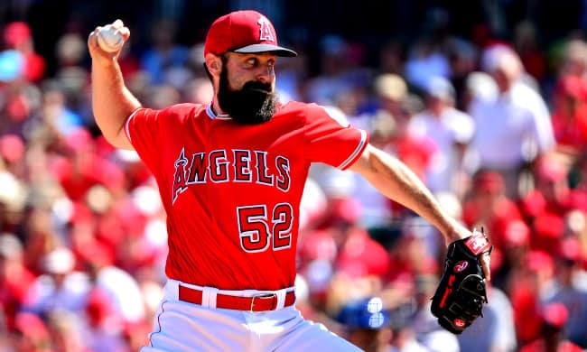 matt shoemaker is baseball player with facial hair