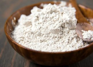 beard powder in a bowl