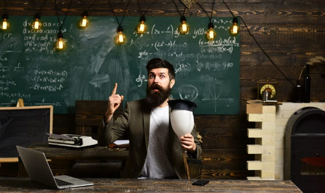 bearded man teaching