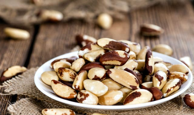 brazil nuts on a plate