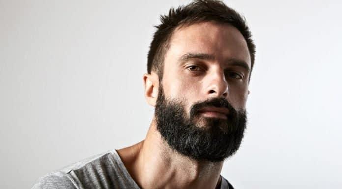 man with thick dark garibaldi style beard