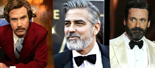 celebrities in beards and suits