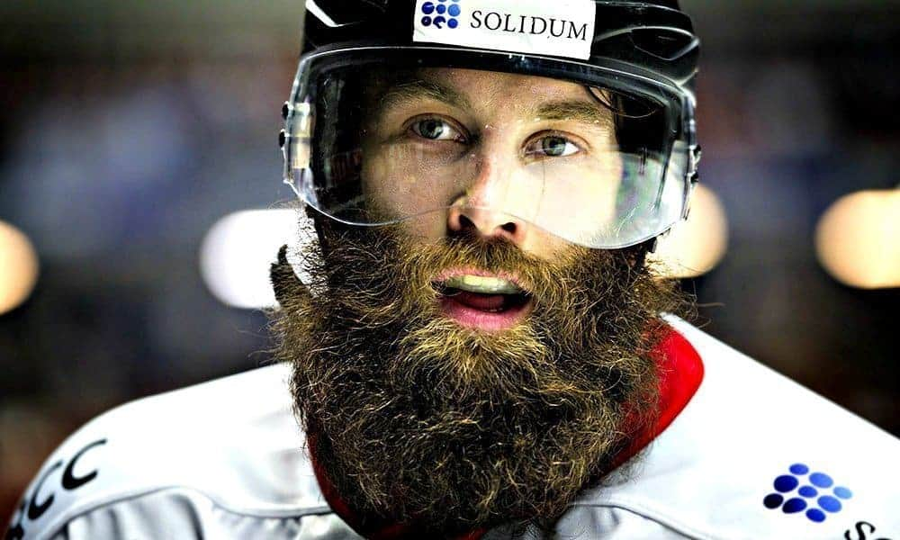 hockey player with a stanley cup beard
