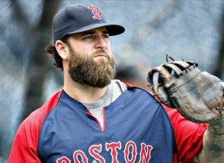MLB baseball player with a thick beard