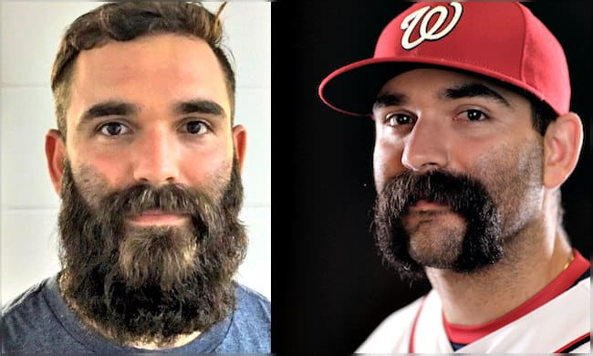 danny espinosa with beard and handlebar mustache