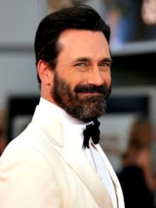 Jon Hamm with full beard in the Oscars