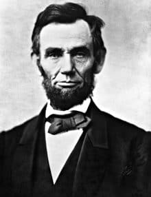 Abraham Lincoln with his popular beard
