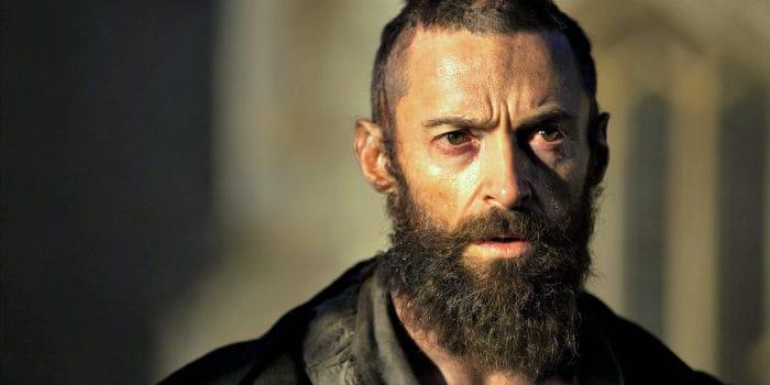 Hugh Jackman with a scraggly long beard