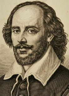 Shakespeare in an old picture with well-groomed facial hair