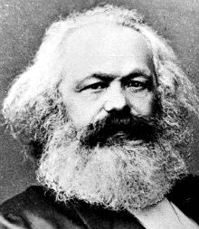 the bushy beard of karl marx