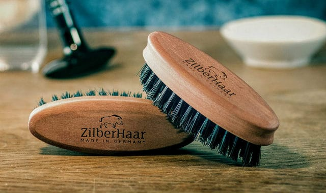 two pocket sized zilberhaar beard brushes