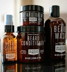 scotch porter beard wash products on a table