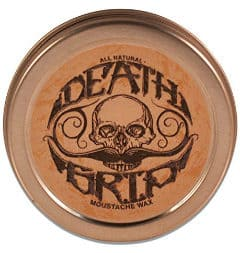a tin of death grip stache wax
