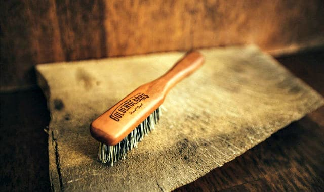 vegan boar bristle brush for facial hair