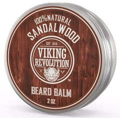 viking revolution beard balm tin standing, isolated in white