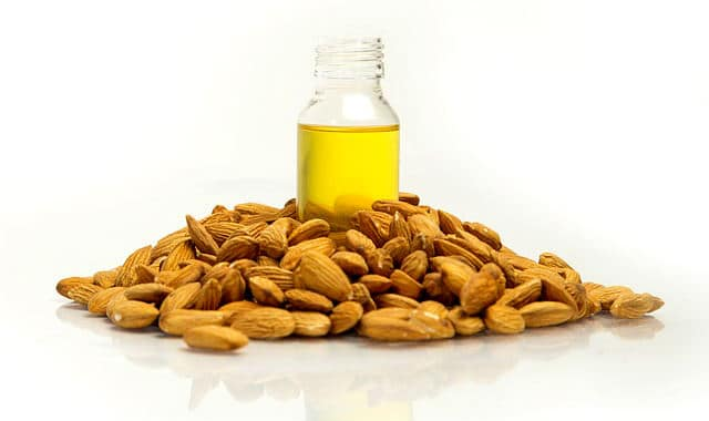 bottle of sweet almond oil