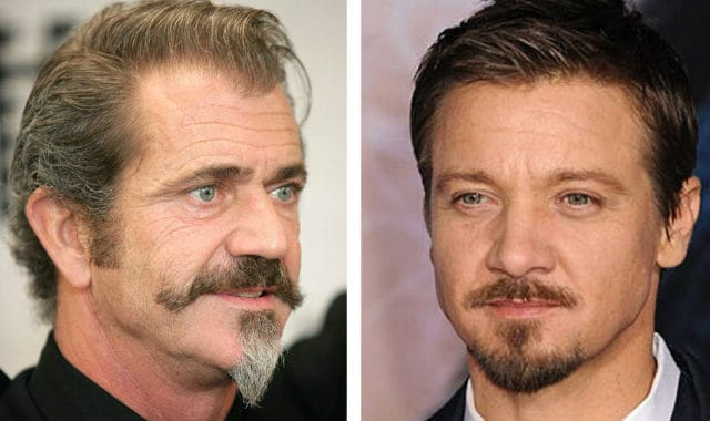 mel gibson and sean penn with van dyke style beards