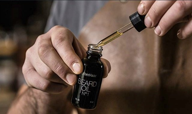 zilberhaar number 1 beard oil bottle and dropper