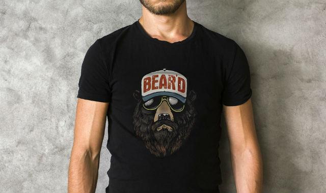 bear beard funny t shirt
