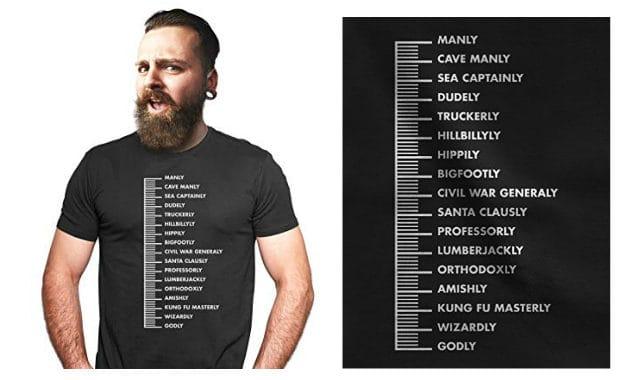 beard scale mens t shirt