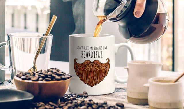 funny beard mug gift idea