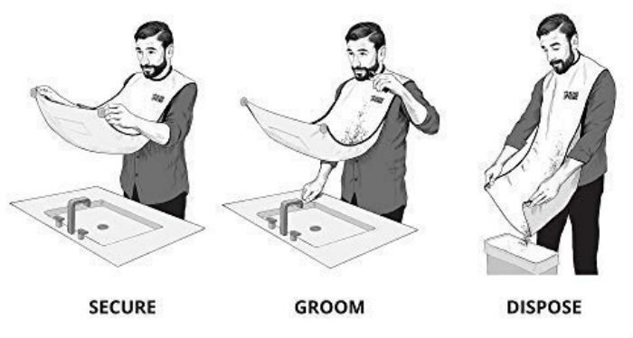 how to use a beard bib