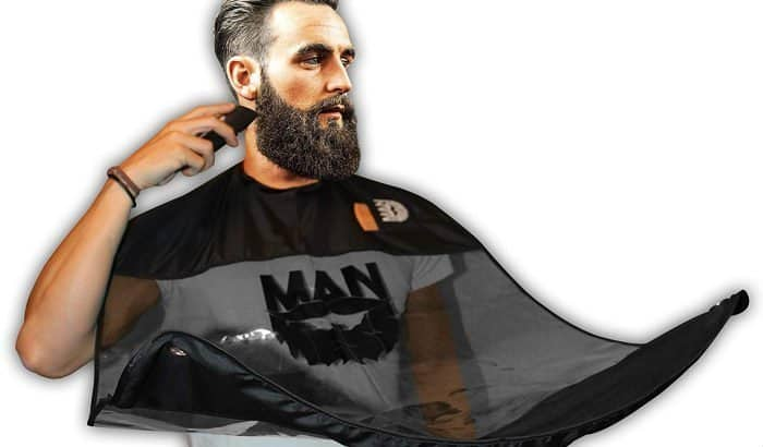 man mess beard bib apron