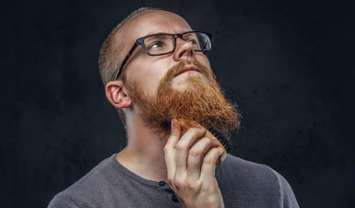beard brush and ginger facial hair