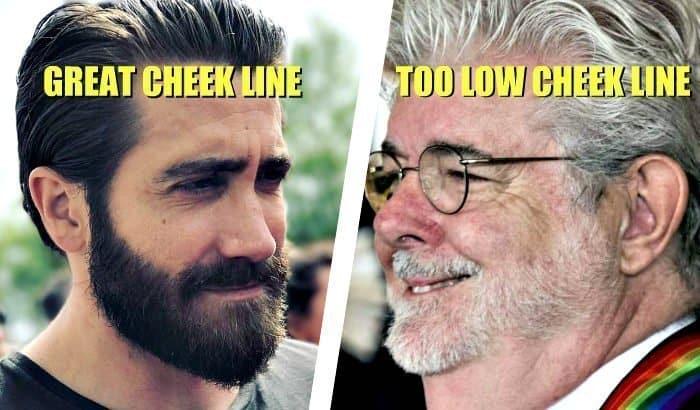 line up beard cheek line
