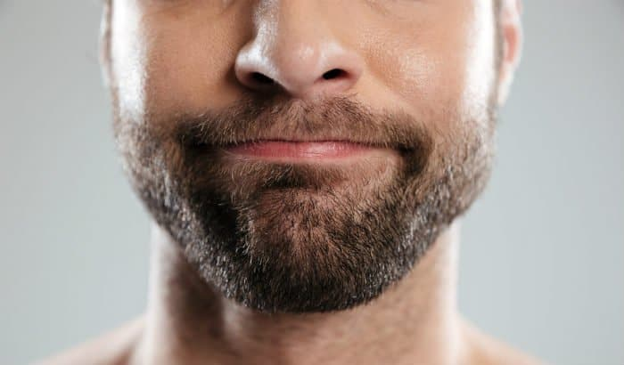 evenly trimmed beard
