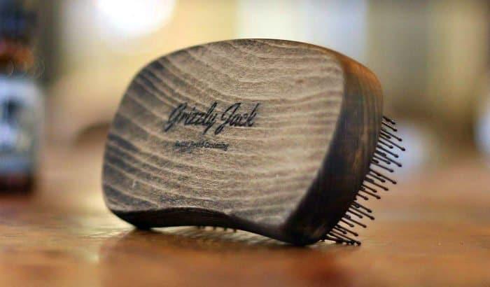 grizzly jack polymer bristle beard brush