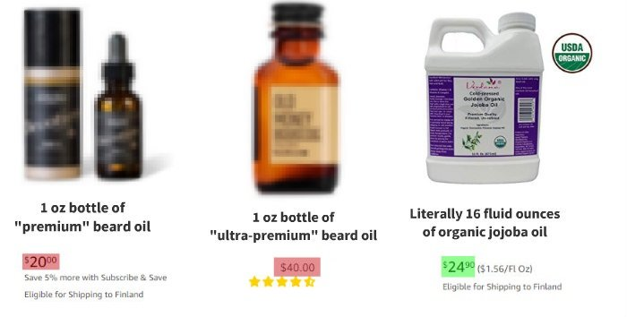 cheap beard oil substitutes vs. premade beard oil