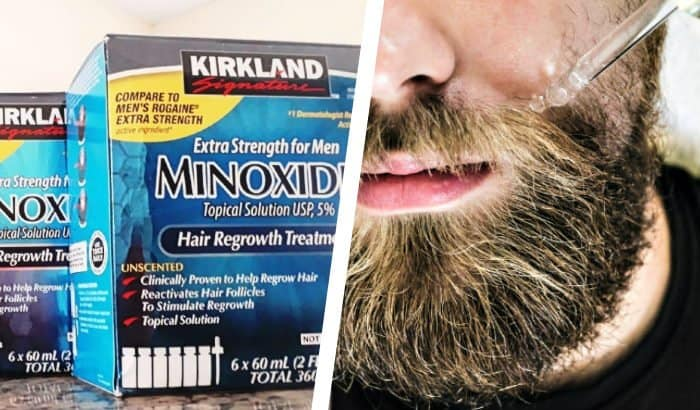 kirkland minoxidil as beard spray