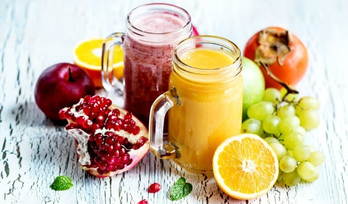 smoothies, fruits, and berries