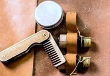 beard balm comb and beard oils