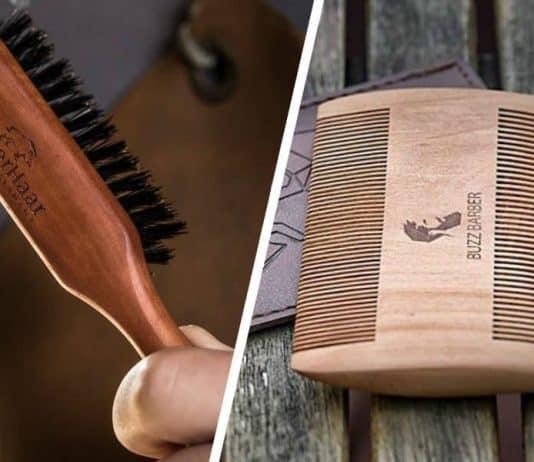 beard brush or beard comb