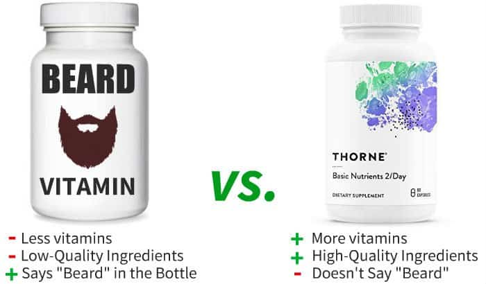 beard vitamin vs regular multivitamin