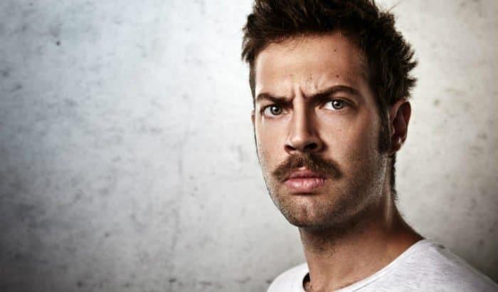 beard wax on mustache