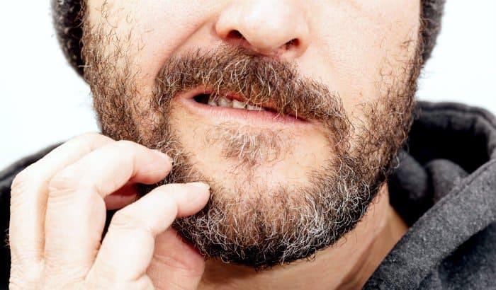 dry beard skin