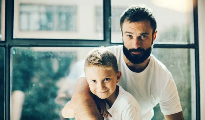 father and son beard
