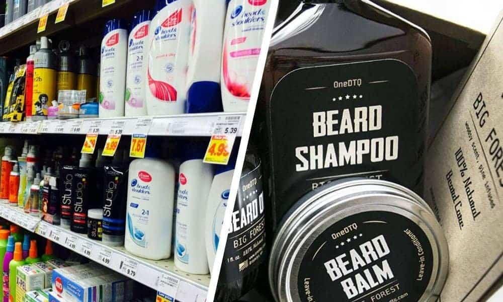 generic shampoo or beard shampoo