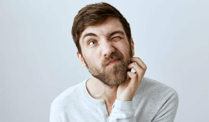 man with itchy beard