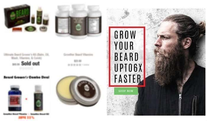 beard growth product claims and promises