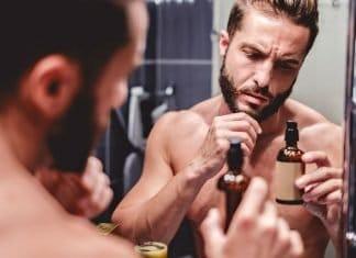 bottle of beard oil for growth