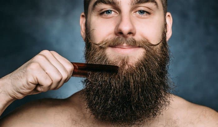 combing long beard