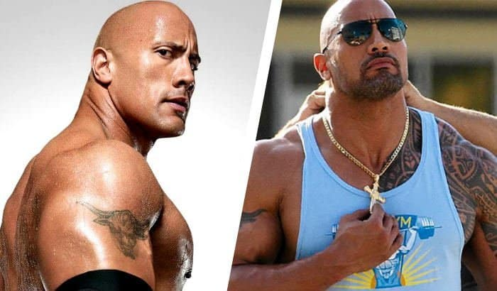dwayne johnson beard vs no beard