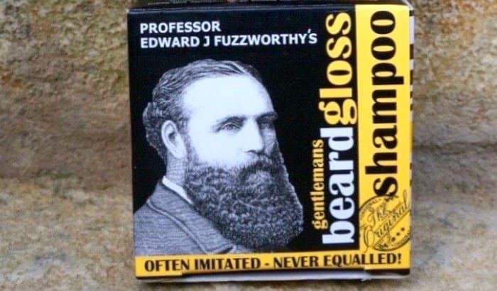 professor fuzzworthy beard shampoo bar