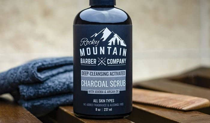 rocky mountain activated charcoal beard exfoliating scrub